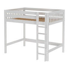 Lily White XL High Loft Beds for Teens, Extra Long Full