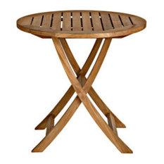 "Cambridge Round Folding Cafe Table, 30"""