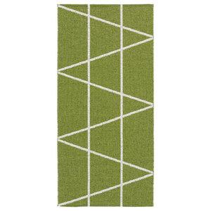 Viggen Woven Vinyl Floor Cloth, Green, 150x100 cm
