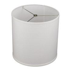 "FenchelShades Drum Lampshade, Designer Linen Off White 12""x12""x12"""