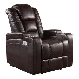 Surprising Bonzy Recliner Chair Chocolate Leather Recliner Chair For Pdpeps Interior Chair Design Pdpepsorg