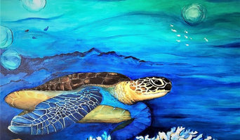 Original Acrylic Painting - Turtle and Coral