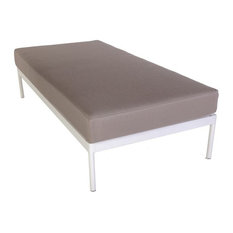 Control Brand   Dalton Double Seat Base Module Small With Cushion, Gray    Upholstered Benches