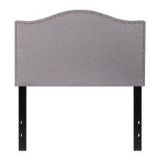 Flash Furniture Lexington Upholstered Twin Panel Headboard In Light Gray