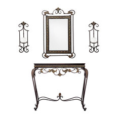 Trevor Console/Mirror/Sconce Pair 4-Piece Set