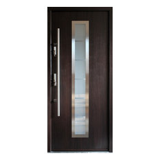 ville doors stainless steel modern entry door wenge finish left hand inswing - Modern Exterior Doors