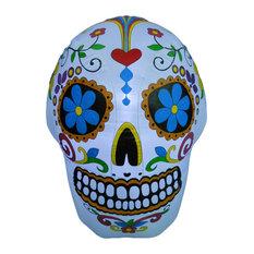 Colorful Skeleton Skull, 4'