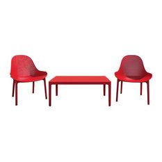 Compamia Sky Lounge 3-Piece Set, Red