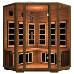 JNH Lifestyles - JNH Lifestyles Freedom 4 Person Corner Far-Infrared Sauna - Product Description