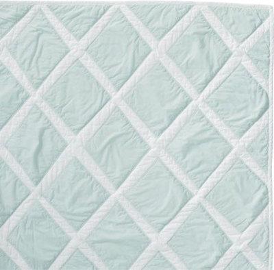 Traditional Quilts And Quilt Sets Aqua Diamond Quilt