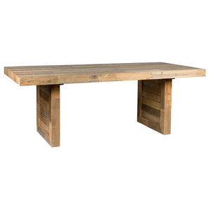 "Norman Reclaimed Pine 82"" Distressed Dining Table by Kosas Home, Natural"
