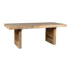 """Norman Reclaimed Pine 82"""" Distressed Dining Table by Kosas Home, Natural"""