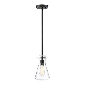 1-Light Pendant, Matte Black