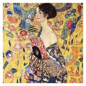Lady with Fan by Gustav Klimt 14x11 Poster ART PRINT