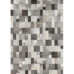 Linie Brilliant Leather Rug, Grey, 140x200 cm