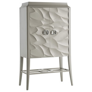 2-Doored Cabinet With Leaf Decor