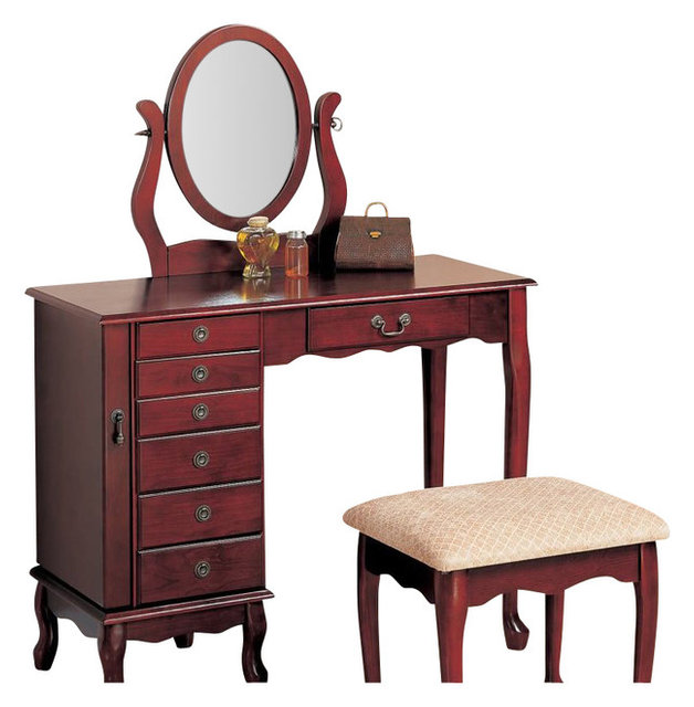 Coaster 8Drawer Jewelry and Makeup Vanity Table Set with Swivel