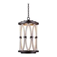 """Belmont Outdoor 13x22"""" 1-Light Coastal Hanging Lanterns by Kalco"""