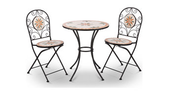 Flowers Mosaic 3-Piece Bistro Set