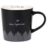 """AFD - """"You're an Angel in Scrubs"""" Noted Mug - Inspired by the joy of receiving a handwritten letter, each 18oz Noted mug features a minimalistic hand-drawn design, heartfelt outer message and corresponding P.S. message. The paper plane embodies this line, evoking the nostalgia of receiving a secret note. This mug is the perfect sentimental gift for friends and family."""