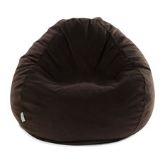 Majestic Home Goods Indoor Dark Brown Faux Suede Small Bean Bag Chairs
