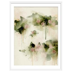 """""""Summer Days"""" Floral Art Print, White Framed, 50x70 cm"""