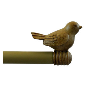 Urbanest 3//4-inch Rooster Adjustable Curtain Rod