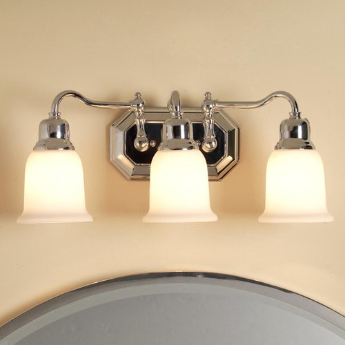 Bathroom Light Fixture Cleaning: Bath Lighting With Classic Clean Lines