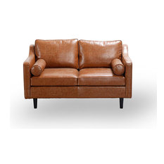 Scandinavian Style Tan Sofa, 2-Seater