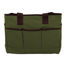 Monogrammed Utility Tote Olive, Black Thread, Arial Font, B
