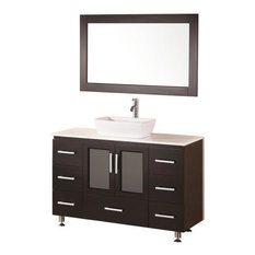 "Stanton 48"" Single Sink Vanity Set, Espresso,Vessel Sink"