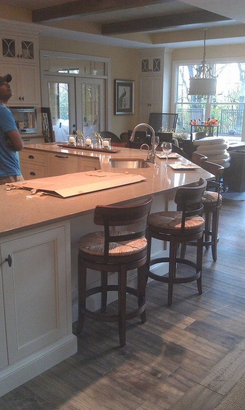 Kitchen With Large Angled Island Zones Wrong