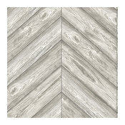 Herringbone, Self-Adhesive Removable Textured Wallpaper, Ash, 56.37 Sq. Ft.
