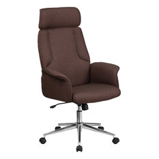 modern desk chair. Flash Furniture - Fabric Office Chair, Brown Chairs Modern Desk Chair
