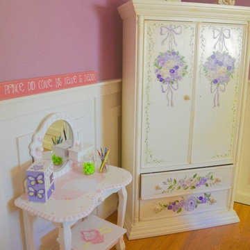 We charmed a little girl's bedroom into a parlor fit for a little princess