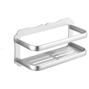 Storage Basket in Aluminium With Patented Glue Strong Adhesive, Modern Design