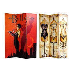 Double Sided Mannequin & Singer Canvas Room Divider