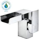 Waterfall Contemporary Bathroom Sink Faucet Modern Bathroom Sink