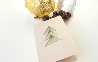Make Your Own String-Art Holiday Card