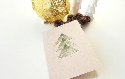 Lav dit eget julekort med stringart