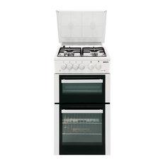 Beko BDG584W 50cm Wide Twin Cavity Cooker in White