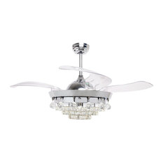 50 most popular contemporary ceiling fans for 2018 houzz flint garden inc retractable blades ceiling fan with light remote control ceiling fans aloadofball Gallery
