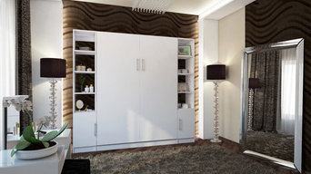Urban Murphy Bed With Hutches by BredaBeds