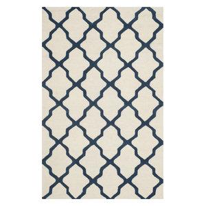 Linon Transitional Wool Rectangle Area Rugivory Finish