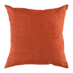 "Tobi Contemporary Poly Filled Accent Pillow Terracotta 18""x18""x4"""