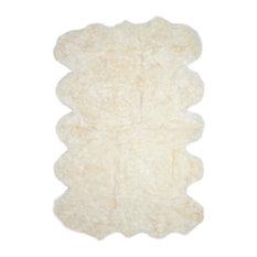 Safavieh Salamanca Sheepskin Rug, White, 6'x9'