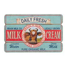 Milk and Cream Wall Decor, 76x50 cm