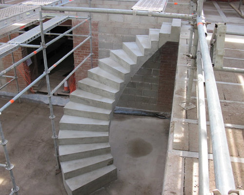 Spiral Concrete Stairs Houzz