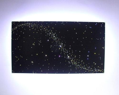 Ceiling Design Fiber Optic Star Ceiling LED Lights Panels Art In The ...