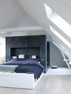 La camera da letto letto centrale o attaccato alla parete - Testata letto in cartongesso ...